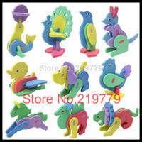 foam puzzle - designs Kids Handmade DIY Craft Kits D mini Animal EVA foam Puzzle Preschool Educational Toys for Children