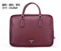 Wholesale New Style Cross pattern Men s Leather Briefcase Business Handbag Leather Bag Computer