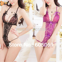 Wholesale clothing set bodystocking Sexy Lingerie Body suits Women Lace Nightdress jumpsuit Teddies New Fast Shipping latex ul144