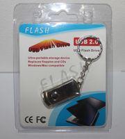 64GB 128GB 256GB USB 2.0 Flash Drive Memory Stick Pluma Metal Plata Con Keyring Swivel venta caliente venta al por menor blister paquete