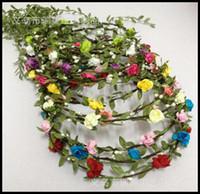 rattan - Fashion Hot Wedding bridal girl head flower crown rattan garland Hawaii flower head wreath
