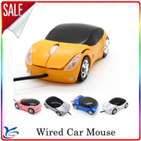 Wholesale optical Wired mouse Mini D Car Led Scroll Wheel Optical Mouse Mice For PC MAC Laptop computer good quality factory price