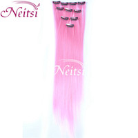 Wholesale Light pink pack Ombre Kanekalon Braiding Hair Synthetic Colorful Popular Colored Clip In On Hair Extensions quot Ombre Human Hair