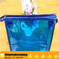 Bag wholesale pvc cosmetic bags - 2014 makeup handbags Cosmetic Bags Cosmetic bag factory outlet detonation candy color crystal jelly bag color transparent PVC cosmetic bag