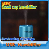 Wholesale Car mini humidifier USB Bottle Caps Aroma Diffuser Mist Maker Air Humidifier Strong sealing no leakage EMS