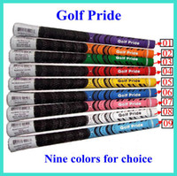 Wholesale Golf Grips golf pride For Golf Clubs Driver Or Golf Irons Grip Mew Model Golf Clubs Golf Rubbers Colors For Mix DHL free shiping