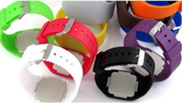 Wholesale 10 Hot sales Colorful LED Touch screen Watch Jelly Candy Extra thin Silicone Waist Watches DHL FedEx