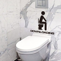 toilet seat covers - Funny Bathroom Toilet Seat Lid Cover Sticker Decals Vinyl Art Glass Wall Sticker DH04