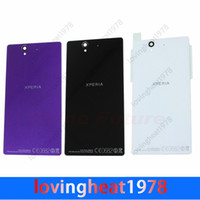 Wholesale 1 Back housing Cover battery door For Sony Xperia Z LT36i LT36H L36H C6602 Battery Door Back Housing with stickers