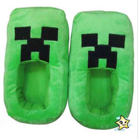 Hor sell Minecraft Creeper JJ worm shoes green slippers for ...