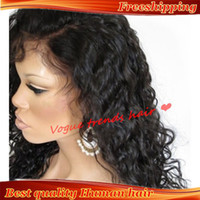 Wholesale Freeshipping Glueless Front Lace wigs Full lace wigs Brazilian Virgin human hair with baby hair around for black women