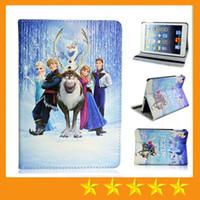 Cheap 7'' Frozen leather Case Best For Apple ABS ipad leather cover case