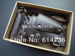 Wholesale-Professional PU Leather Rivet Clips Bag Salon Scissors Hairdressing Holster Pouch Holder Case
