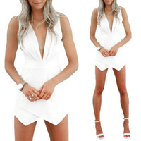 Mini Dresses bell cocktail dress - S5Q Jumpsuits Dress Women s Lady Sexy Deep V Neck Bodycon Cocktail Party Bandage AAADST