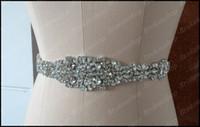 Wholesale New Elegant Motif Rhinestone Bridal Sashes Shiny Crystal Beautiful Cheap Bridal Wedding Dress Belts And Sash With Ribbon Orenda Real Picture