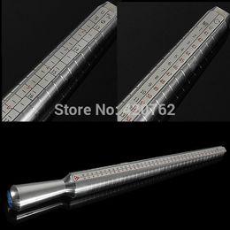 Wholesale Silver Metal Guage Mandrel Stick Measure Ring Sizer Finger Sizing Standard Tool