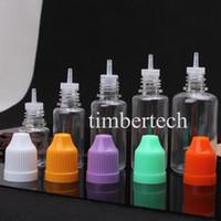 Wholesale Empty dropper bottle ml PET with Child proof cap Long Thin Tip needle cap Bottles With Safe Tips NEW empty e cig oil bottles jar