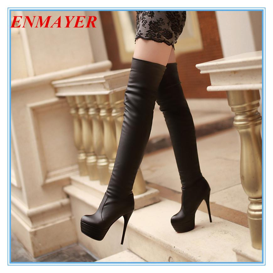 Enmayer Big Size34 43 Super High Heeled Over The Knee Boots For ...