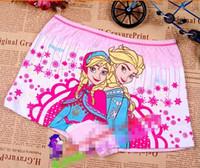 Wholesale M L XL XXL Hot kids underwear cute kid clothing wear children cartoon frozen anna elsa snow queen boxers kid boxer big girls shorts AB5
