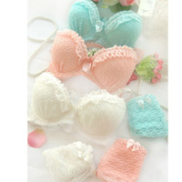 Wholesale 2014 HOT Sale Sexy Women Lingerie Ruffle Lace Push Up Bra Underwear Sets Panty Back Closure Cup A