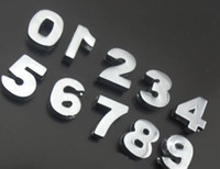 Wholesale mm Chrome number slide charm diy accessories fit for mm phone strips