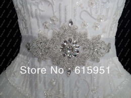 New Free Shipping 2019 New Fashion Luxury Beads Rhinestone Crystal Wedding Sashes Bridal Belts For Wedding Dresses