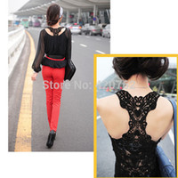 Wholesale 2014 New Summer Fashion Women Lace Back Crochet Camisole Cami Hollow out Vest Tank Top T shirt Size S L