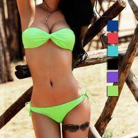 Nylon 82% Spandex 18% Women Bikinis Multicolor Sexy Lady Bikini Padded High Elastic Fabric Swimwear Bathing Suit B23 utility