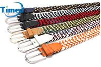 Wholesale Spandex elastic woven belt women s pin buckle fashion six colors strap belts