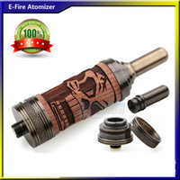 Replaceable 3.0ml Wooden HOT E Cigarette Wooden E Fire Atomizer Adjustable Airflow Tank X Fire Clearomizer Vaporizer For E cigs E Fire eGo EVOD Battery Flydream