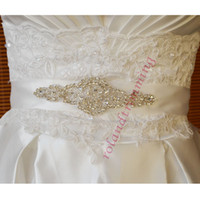 Wholesale Sparkling Rhinestone Sashes - Cheap! 2014 Sparkling Shining Bridal Sashes Crystals Beadings Lovely Wedding Belts Bridal Accessories