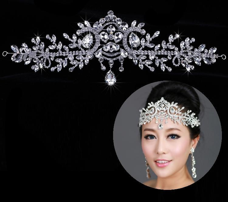 Fashion Bridal Crystal Wedding Tiaras Crown Hair Accessories For Quinceanera And Crowns Rhinestone Pageant Jewelry