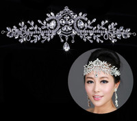 Wholesale Fashion Bridal Crystal Wedding Tiaras Crown Hair Accessories For Wedding Quinceanera Tiaras And Crowns Rhinestone Pageant Hair Jewelry