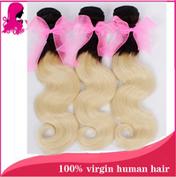 Cheap Ombre hair extension body wave Brazilian remy hair weft unprocessed no smell perfect hair hot sale online