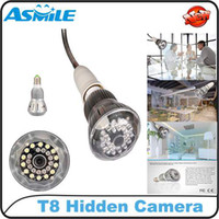 Cheap 32GB HD 720P Night Vision LED Lamp Design Hidden Pinhole Bulb SPY Camera Mini Digital CCTV Security DV DVR with Remote Control