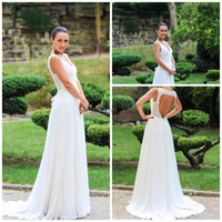 A-Line Model Pictures Sweetheart Simple Real image 2014 wedding dresses with hollow v neck sleeveless beaded applique lfloor length chiffon ace up lace wedding dress HY MW69