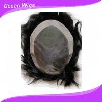 Wholesale Human hair toupee hair replacement for men Mono lace toupee men s toupee size and b color great quality toupee