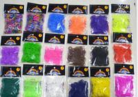 Wholesale 600 bands Hook quot S quot Clip Mix colorful Silicone Bracelet Crazy DIY Elastic Rubber Rainbow Loom Bands