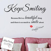 marilyn monroe - Sexy Lady Marilyn Monroe Keep Smiling Life Quote Art Wall Stickers Decal Decor