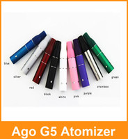 Cheap AGO G5 Atomizer Clearomizer Wind Proof For Ego E Cigarette Dry Herb Vaporizer G5 Pen Style E Cig For Cut Tobcco Liquid Herb DHL