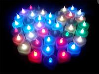 Wholesale LED Tea Candles LED Night Light Flickering Flameless Tea Light Battery Operated LED Candle Light Wedding Birthday Party Christmas Decoration