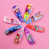 Barrettes & Clips hair clipper accessories - Frozen Anna elsa Girl Hair Clipper Headwear Female Hair Accessory Wafer Side knotted Clip Hairpin Barrettes styles for choos