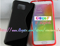 TPU alpha soft - For Galaxy Alpha F G850 A3 A5 S5 Neo G750 S line Wave soft clear crystal Gel TPU Gel Rubber silicone skin Back case cover cases