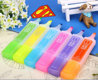Wholesale The large fluorescent number key Highlighters candy touch oil marker white pieces whole whiteboard Dry needle pens