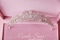 Rhinestone/Crystal diamond tiara - LN Sparkling Diamond Big Crown Rhinestone Bridal Tiaras In Stock Wedding Accessories Hot Sale Wedding Hair Hair Crown New