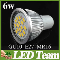 Wholesale High lumen w Led Spotlight E27 Gu10 Mr16 lm Led Bulb Lamps SMD5630 Warm Cool White v or v years warranty