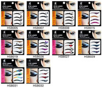 Wholesale pairs Super Vintage Temporary Tattoo EyeLiners Sticker Smoky Eyes Eyeliner