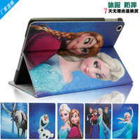 Wholesale Frozen ipad2 mini air case Cartoon Movie For iPad Air iPad iPad mini PU Leather Case Stand Case elsa anna olaf sven cover case