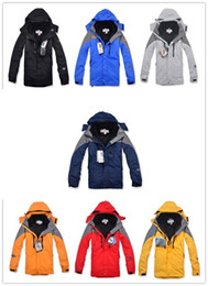 Wholesale Authentic Winter Ski Wear Jackets Outdoor Men s Twinset Jacket Waterproof Coat Removable Fleece inner Hooded Warm Jackets