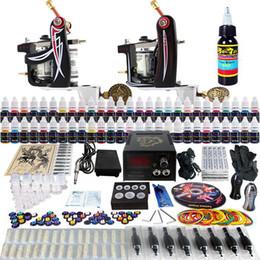 Wholesale Complete Tattoo Kit Pro Machine Guns Inks Power Supply Needle Grips TK227